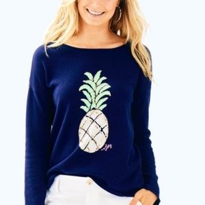 Lilly Pulitzer Roselle Sequin Pineapple Sweater